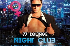 77 Lounge Night Club Flyer