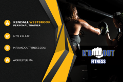 Kd Out Fitness Business Card Back