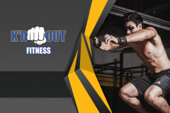 Kd Out Fitness Business Card Front