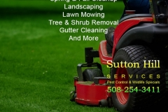 Sutton Hill Services Landscaping Ad