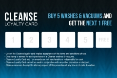 Cleanse Loyalty Card