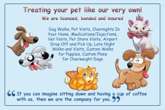 Your Pet My Pet Post Card (back)