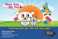 Your Pet My Pet Post Card (front)