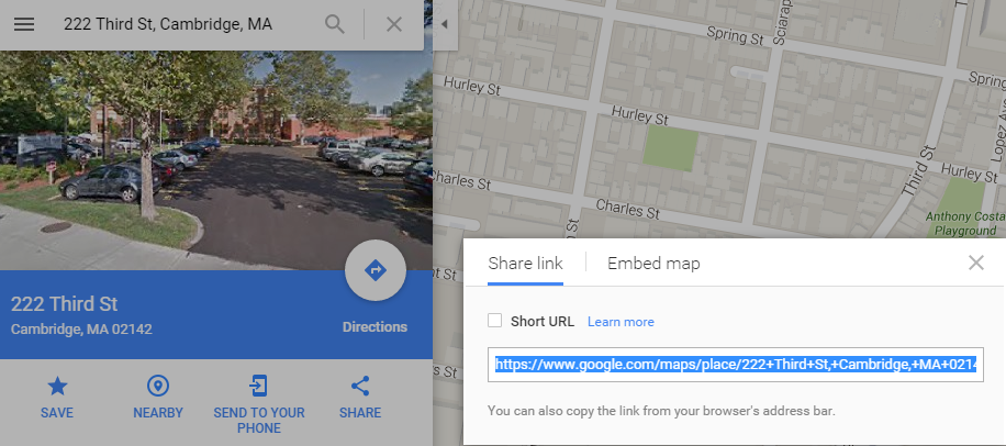 how to embed a google map