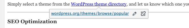 Check links in WordPress